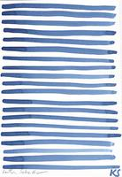 © Kate Schelter LLC 2019 | FRENCH BLUE HORIZONTAL LINES 2 by Kate Schelter