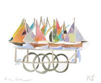 © Kate Schelter LLC 2020 | Luxembourg boats cart by Kate Schelter