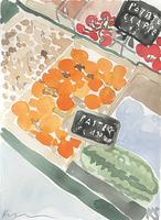 © Kate Schelter LLC 2018 | PARIS FRUIT STAND WATERMELLON by Kate Schelter