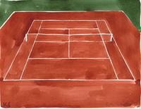 © Kate Schelter LLC 2019 | Roland Garros Clay Tennis Court by Kate Schelter